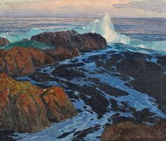 Edgar Alwin Payne - Restless Sea (1917) Indianapolis Museum of Art Gift of Mrs. James Sweetser
