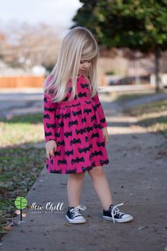 """Bat Grunge in Fuschia"" lap dress by Sew Chill"