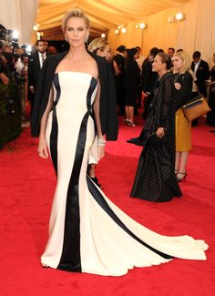 Met Gala 2014 Red Carpet Arrivals, Charlize Theron!! LOVE, LOVE HER! FAB FACTOR!!!