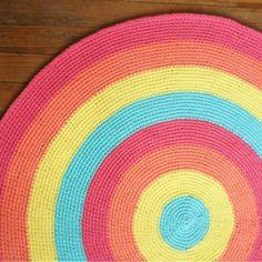 Alfombra Tejida A Crochet 70 Cm - $ 400,00 en MercadoLibre