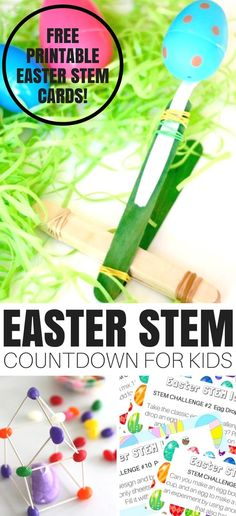 Task Shakti - A Earn Get Problem We Have The Best Easter Stem Activities Countdown For Junior Scientistsjoin Us For The Easter Stem Countdown Challenge And Play Along With Great Stem Ideas. Straightforward Themes Give Everyday Science And Stem A Whole New Science Activities For Kids, Cool Science Experiments, Easter Activities, Holiday Activities, Sensory Activities, Sensory Play, Countdown For Kids, Challenge Cards, Free Printable
