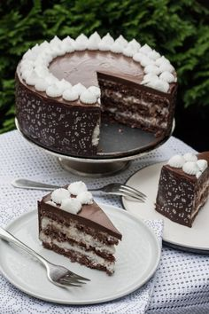 Kókuszos-csokoládés torta recept - Kifőztük, online gasztromagazin Muffin, Fitness Cake, Torte Recepti, Hungarian Recipes, Hungarian Food, Pudding, Cake Cookies, How To Make Cake, No Bake Cake