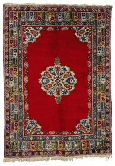 A MOROCCAN CARPET Types Of Rugs, Moroccan, Bohemian Rug, Auction, Carpet, Carpets, Rug