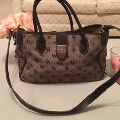 Black and gray Dooney and Bourke purse Goes with everything. Dooney & Bourke Bags