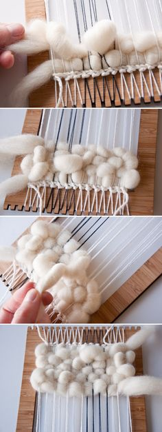Creating Texture when Weaving Wool Roving