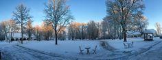 Talvi hienoimmillaan Välimerem toimistollamme.
