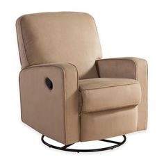 Abbyson Living® Ashlyn Nursery Swivel Glider Recliner - BedBathandBeyond.com