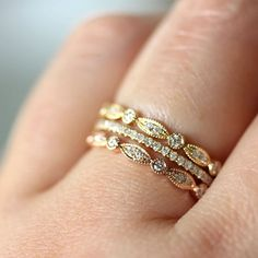 Micro Pave White Diamond Eternity Band in 14K by louisagallery