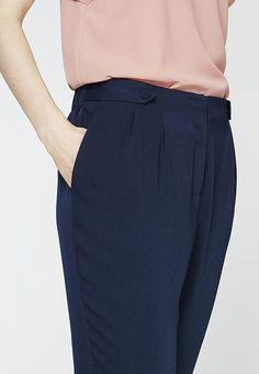 mint&berry Spodnie materiałowe - nazy blazer - Zalando.pl