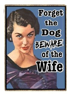 ... wife vintage retro funny quote