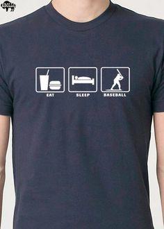 541d5306516 Dad Shirt Eat Sleep BASEBALL MENS T Shirt Husband Gift Funny Tshirt Cool  Shirt Dad Gift