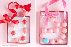 DIY gumball necklaces for party favors