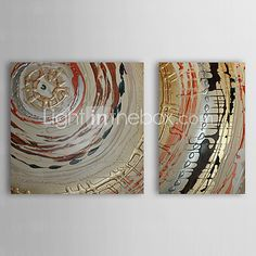 Pintado a mano la pintura al óleo abstracta marco estirado juego de 2 1309-AB0869 - EUR €87.21