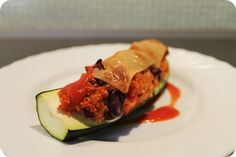 Zucchini gefüllt mit Gemüse und Couscous - non exploiting life mags zu Mittag gesund