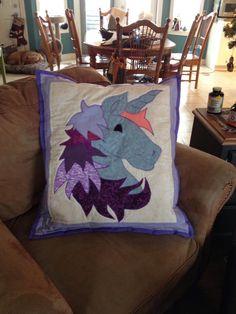 Large plush Unicorn pillow   Custom orders