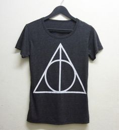 harry potter harry potter and the deathly hallows t-shirt rock fashion pop punk magic black t-shirt
