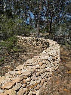 Dry Stack Stone Wall. for the love of rocks and stones :)