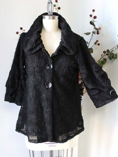 Dashing and Chic High Fashion Lagenlook Plus Size Artsy Jacket in Ivory White | eBay