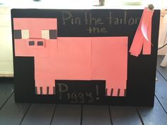 Pin the tail on the piggy