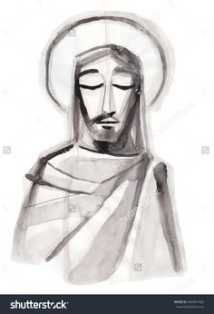 Hand drawn illustration or drawing of Jesus Christ praying Jesus Christ Painting, Jesus Art, Images Of Christ, Pictures Of Jesus Christ, Lds Art, Bible Art, Jesus Sketch, Jesus Drawings, Jesus Photo