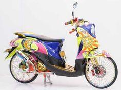 Modifikasi Yamaha Fino Airbrush Elegan