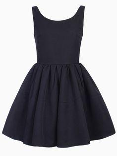 Sleeveless Skater Dress in Black | Choies