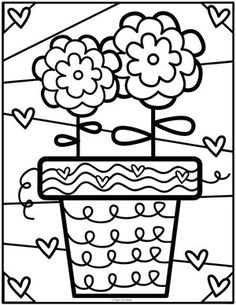 — From the Pond Coloring Club — From the Pond,Coloring Club — From the Pond, FREE Flower Coloring Page - Perfect for Mother's Day, Spring, Easter or Earth Day! Heart Coloring Pages, Flower Coloring Pages, Colouring Pages, Printable Coloring Pages, Coloring Books, Coloring Pages For Kids, Adult Coloring, Kids Coloring, Color Club