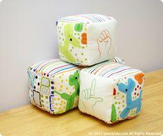 Sew Can Do: Love Language Soft Baby Blocks Tutorial
