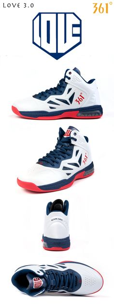 Kevin Love signature basketball shoes, Love 3.0 viewing angles.