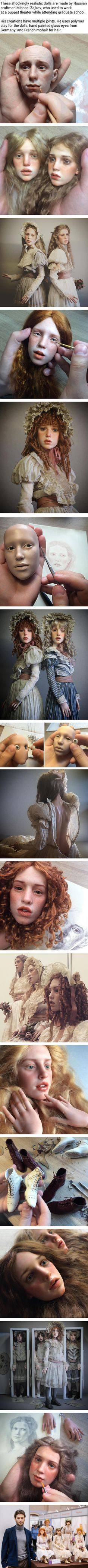 Michael Zajkov These Stunningly Realistic Doll Faces Will Make Your Skin Crawl (By Michael Zajkov)