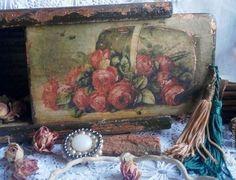 Шкатулка Розы из прошлого - розы,винтаж,винтажный стиль,бабушкин сундук