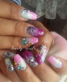 Swarowski Nail Bling, Nails Inspiration, Nail Ideas, Nail Designs, Nail Art, Glamour, Tattoos, Beauty, Finger Nails