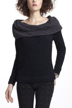"""- By Bordeaux - Foldover cowl can be manipulated into various styles - Cotton - Hand wash - 26""""L - Imported"""