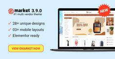 Design 28 Ready in eMarket – Homepage Design, Web Design, Mobile Responsive, Wedding Store, Wordpress Template, Best Wordpress Themes, Online Shopping Stores, Affiliate Marketing, Ecommerce