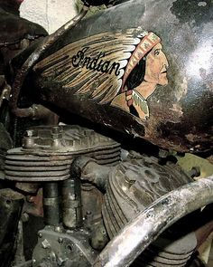 ✸This Old Stomping Ground✸ : Photo - Motorcycles - Trend Frauen Fahrrad Vintage Indian Motorcycles, Vintage Bikes, Vintage Motorcycles, Vintage Cars, Indian Motors, Cruisers, Harley Davidson, Rockabilly Cars, Indian Scout