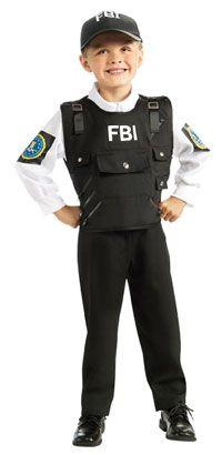 FBI Agent Kids Costume Police Costumes
