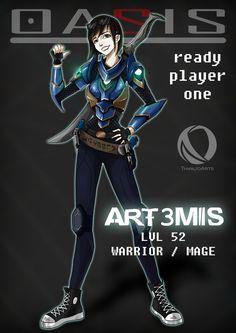"""Art3mis"" by ThanjoArts • https://www.deviantart.com/art/Art3mis-697138291"