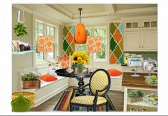 Check out this moodboard created on @Cheryl Brogan: Cozy Colorful Kitchen Nook by carimurphy
