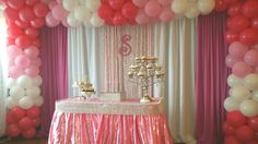 Backdrop being drapes birthday sweet 16 quinceñera, baby shower NYC BALLOON SQUAD