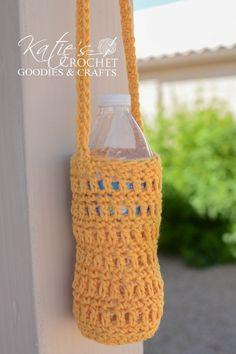 Water Bottle Cozy Crochet Pattern - Katie's Crochet Goodies