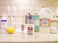 Homemade Natural Cleaners (all-purpose, carpet deodorizer, microwave cleaner, toilet bowl cleaner, etc)