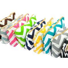 Chevron Makeup Bag - Choose Your Colors - Bridesmaid Gift Idea