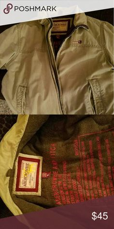 Abercrombie and Fitch Men's Jacket Abercrombie and Fitch Men's Fleece lined Jacket, no stains, Non-Smoker Abercrombie & Fitch Jackets & Coats Military & Field