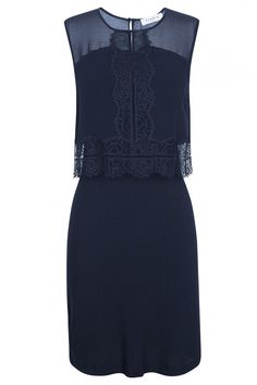 the beautiful lace overlay on this otherwise basic shift dress, makes it stand out and be recognized...and so will you in it!