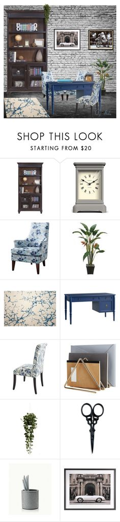 """Desk Color Design - Urban"" by selene-cinzia ❤ liked on Polyvore featuring interior, interiors, interior design, home, home decor, interior decorating, Martin Furniture, Newgate, Renwil and Redford House"