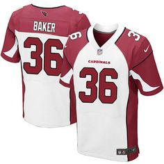 Nike Cardinals #36 Budda Baker White Men's Stitched NFL Elite Jersey