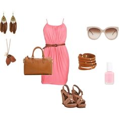Pink & Feathery, created by mstardustm on Polyvore