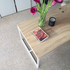 Coffee table made to order mild steel plywood top