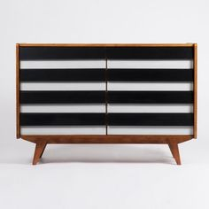 """This stylish dresser from the sixties by Jiri Jiroutek (Czech Republic) can be found in the """"multi-functional"""" room"""