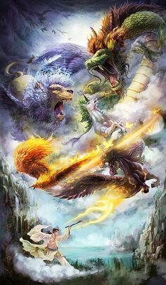 Beautiful, inspirational and creative images from Piccsy. Mythical Creatures Art, Mythological Creatures, Dark Fantasy Art, Fantasy Artwork, Dragon Artwork, Dragon Pictures, Fantasy Monster, Fantasy Dragon, Angel Art